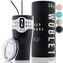 BAR N0NE Woblet | 30 oz Stainless Steel Travel Tumbler, Vacuum Insulaed, Double Copper-Lined