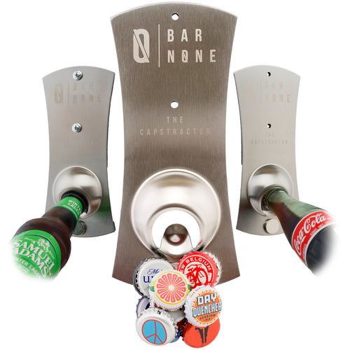 Bar None The Capstractor | Bottle Opener Beer Opener Beer Bottle Opener Magnet Magnetic Fridge Bottle Opener Bottle Cap Opener Refrigerator Fridge Beer Bottles for Bartender Cool Openers Church Key