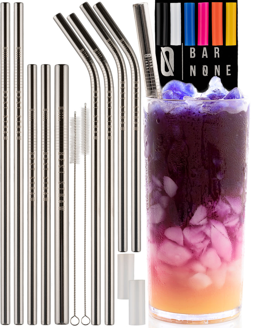 Bar None Best Straws Set of 10 | 8.5 & 10.5