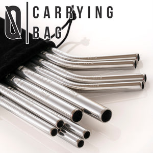 "Bar None Best Straws Set of 10 | 8.5 & 10.5"" Long Wide Stainless Steel Metal Drinking Straws"