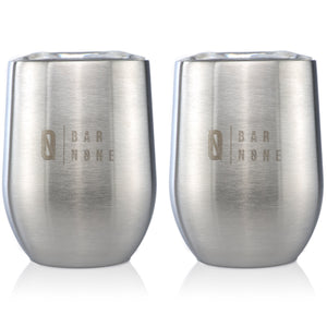 Bar None Wumbler | 12 Oz Exquisite Quality Stainless Steel Wine Glasses