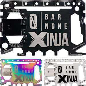 Bar None Xinja 50 in 1 Credit Card Multitool Wallet Multi Tool Money Clip EDC Everyday Carry