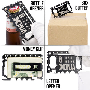 XINJA Bottle Opener Box Cutter Money Clip Letter Opener Tool Examples