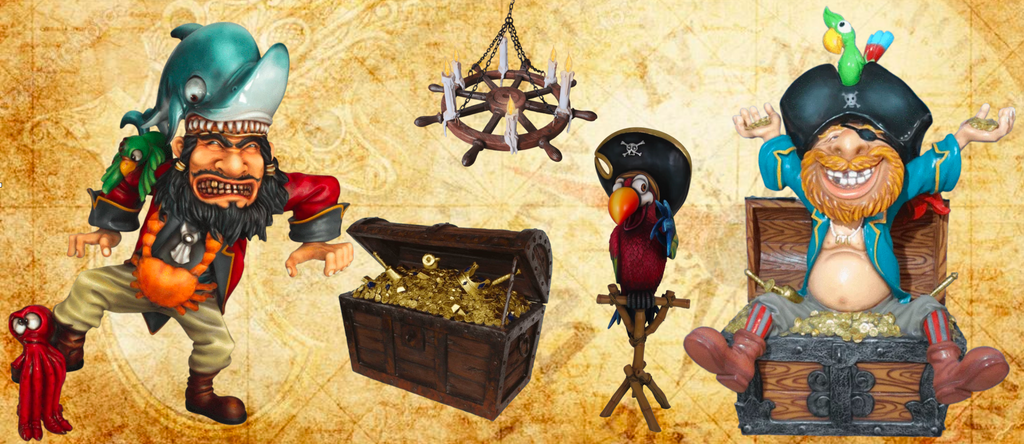 Life Size Pirate Statues LM Treasures