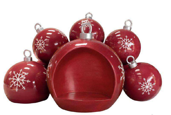 Christmas Ball Stack Seat - LM Treasures Life Size Statues & Prop Rental