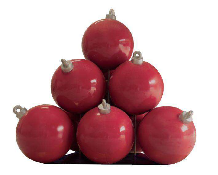 Christmas Ball Stack (10) - LM Treasures Life Size Statues & Prop Rental