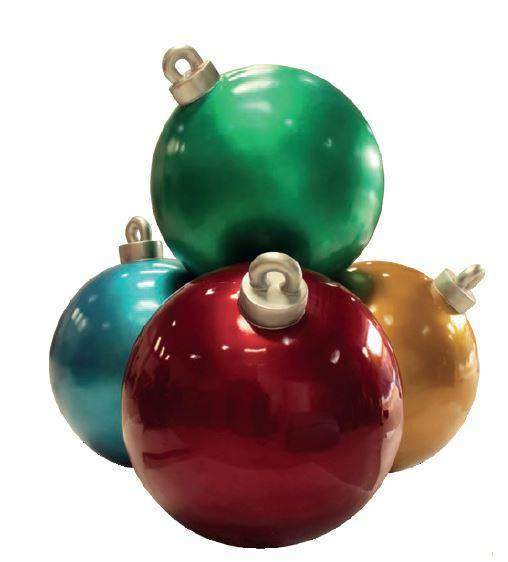 Christmas Ball Stack (4) - LM Treasures Life Size Statues & Prop Rental