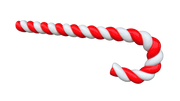 Candy cane 350cm (Red/White) - LM Treasures Life Size Statues & Prop Rental