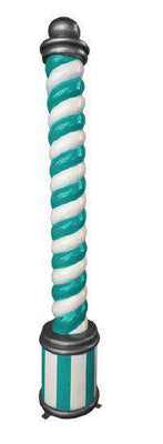 Candy cane pillar (Blue/White) - LM Treasures Life Size Statues & Prop Rental