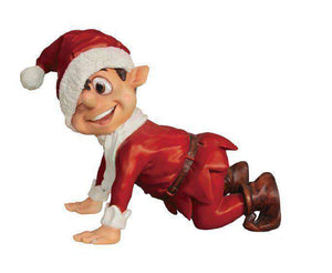 Elf Crawling (Red) - LM Treasures Life Size Statues & Prop Rental