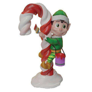 Elf Painting (Green) - LM Treasures Life Size Statues & Prop Rental