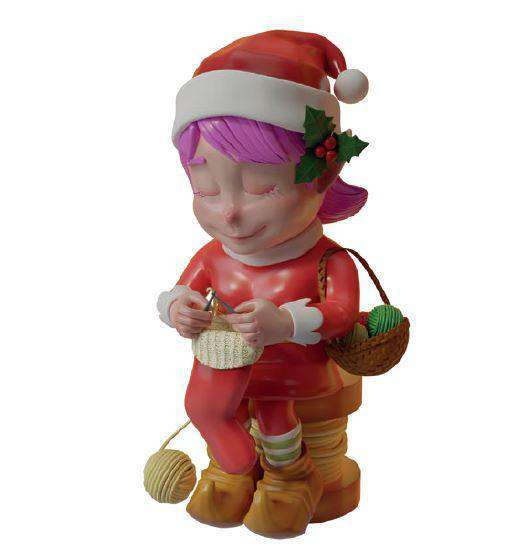 Elf Knitting - LM Treasures Life Size Statues & Prop Rental