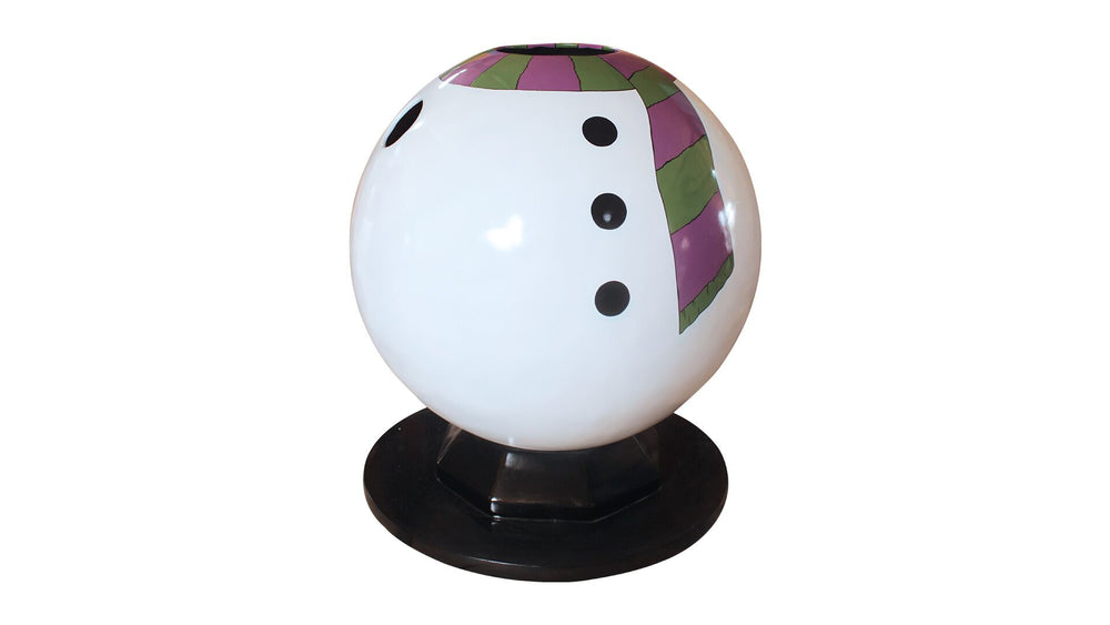 Photo Op Snowman Bubble Pod - LM Treasures Life Size Statues & Prop Rental