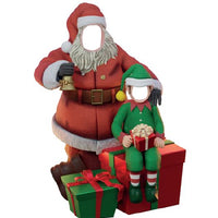 Photo Op Santa w/ Elf - LM Treasures Life Size Statues & Prop Rental