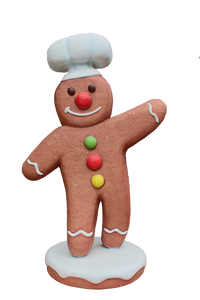 Gingerbreadman 1 - LM Treasures Life Size Statues & Prop Rental
