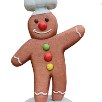 Small Gingerbread Cook Over Sized Statue - LM Treasures Life Size Statues & Prop Rental