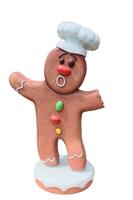 Large Gingerbread Cook Over Sized Statue - LM Treasures Life Size Statues & Prop Rental