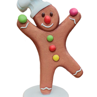 Medium Gingerbread Cook Over Sized Statue - LM Treasures