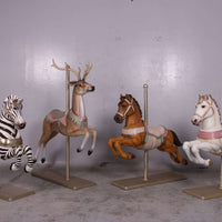 Carousel Horse Majestic Resin Statue Display Prop- LM Treasures