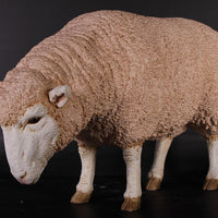 Merino Ewe Head Down Life Size Statue - LM Treasures Life Size Statues & Prop Rental