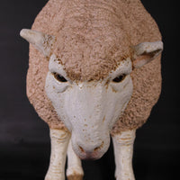 Merino Ewe Head Down Life Size Statue - LM Treasures