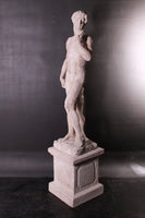 Stone David on Base Life Size Greek Roman Prop Resin Decor - LM Treasures