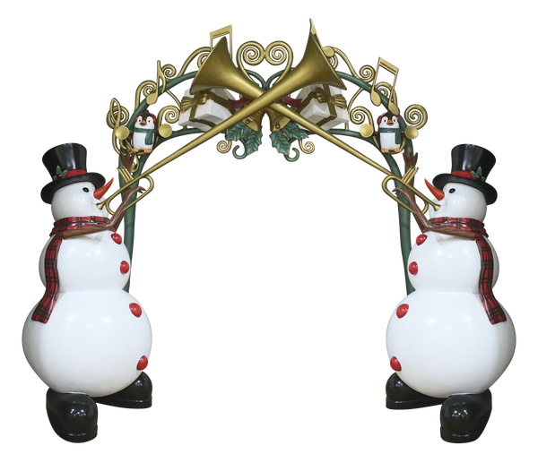 Archway Snowmen - LM Treasures Life Size Statues & Prop Rental
