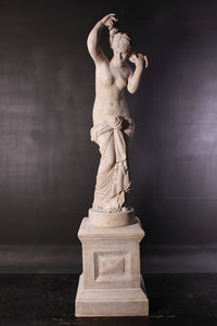Stone Elizabeth Nude on Base Life Size Greek Roman Prop Resin Decor - LM Treasures