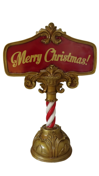 Sign Merry Christmas - LM Treasures Life Size Statues & Prop Rental