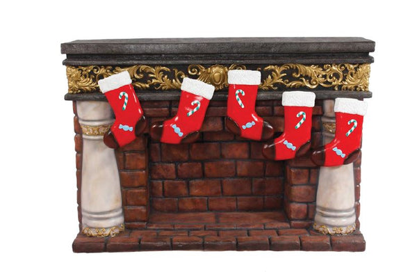 Fireplace with Socks - LM Treasures Life Size Statues & Prop Rental