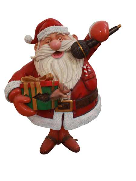 Santa Rock Star - LM Treasures Life Size Statues & Prop Rental