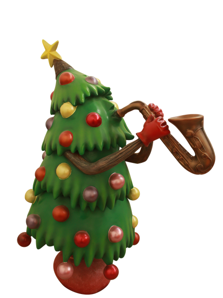 Christmas Tree Mr. Green Sax - LM Treasures Life Size Statues & Prop Rental