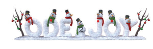 Sign Ode 2 Joy Snowmen - LM Treasures Life Size Statues & Prop Rental