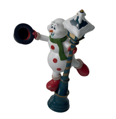 Light Post Snowman - LM Treasures Life Size Statues & Prop Rental