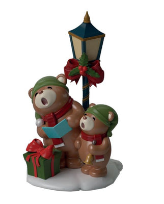 Light Post Singing Teddybears - LM Treasures Life Size Statues & Prop Rental