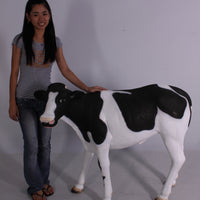 Baby Holstein Cow Life Size Statue - LM Treasures Life Size Statues & Prop Rental