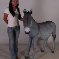 Grey Donkey No Basket Life Size Statue - LM Treasures Life Size Statues & Prop Rental