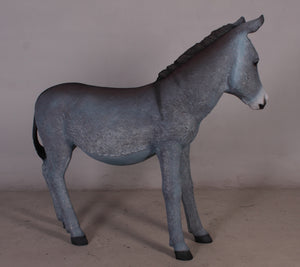 Gray Donkey No Basket Life Size Statue - LM Treasures Life Size Statues & Prop Rental