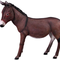 Brown Donkey No Basket Life Size Statue - LM Treasures Life Size Statues & Prop Rental