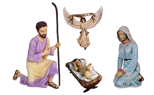 Nativity (Set of 4) 3ft Holiday Seasonal Resin Christmas Statues - LM Treasures