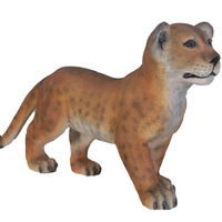 Standing Lion Cub Life Size Statue - LM Treasures