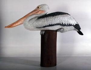 Pelican On Post Life Size Statue - LM Treasures