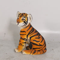 Sitting Bengal Tiger Cub Life Size Statue - LM Treasures Life Size Statues & Prop Rental