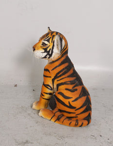 Sitting Bengal Tiger Cub Life Size Statue - LM Treasures
