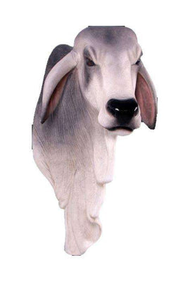 Bull Braham Shoulder Cow Farm Prop Life Size Decor Resin Statue- LM Treasures