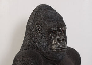 Small Silver Back Gorilla Sitting Life Size Statue - LM Treasures Life Size Statues & Prop Rental
