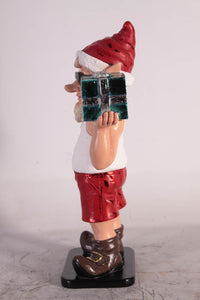 Sunny Elf with Gift Life Size Statue - LM Treasures
