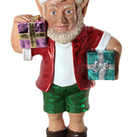 Large Sunny Elf With Two Gifts Life Size Statue - LM Treasures