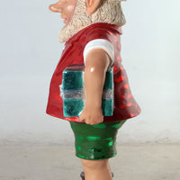 Large Sunny Elf With Two Gifts Life Size Statue - LM Treasures Life Size Statues & Prop Rental