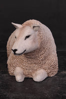 Laying Texelaar Lamb Life Size Statue - LM Treasures Life Size Statues & Prop Rental